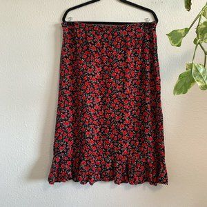 Christopher & Banks Skirts - Plus Size Christopher & Banks Floral Skirt